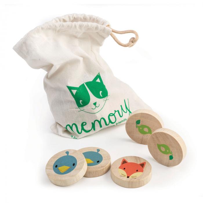 Joc de memorie din lemn, Pisica inteligenta, 21 piese 4