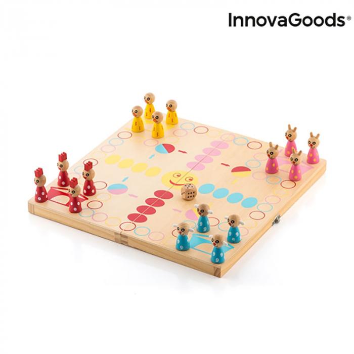 Joc din lemn educativ Pake Animals, 18 piese 5