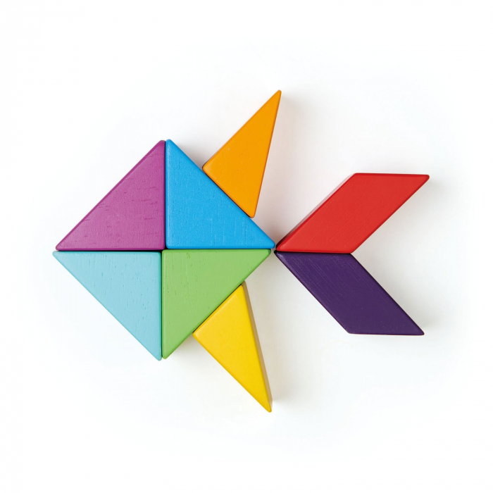 Joc magnetic din lemn Designer Coloristica, 8 piese 5