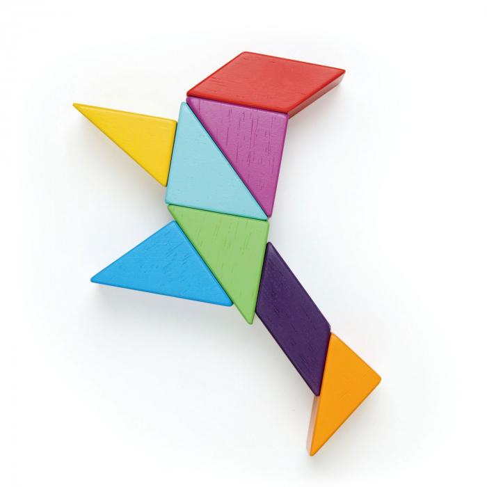 Joc magnetic din lemn Designer Coloristica, 8 piese 13