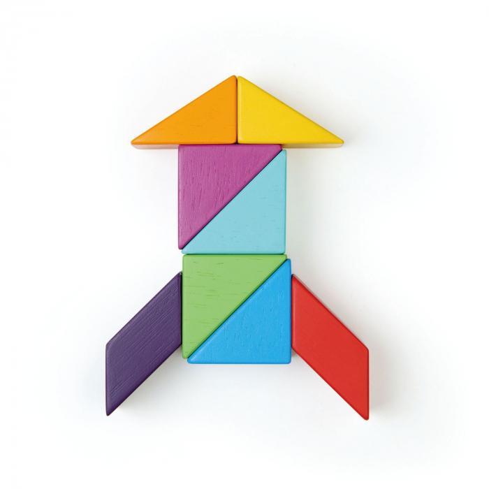 Joc magnetic din lemn Designer Coloristica, 8 piese 3