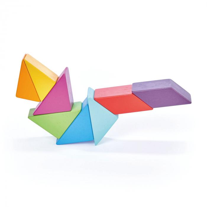 Joc magnetic din lemn Designer Coloristica, 8 piese 2