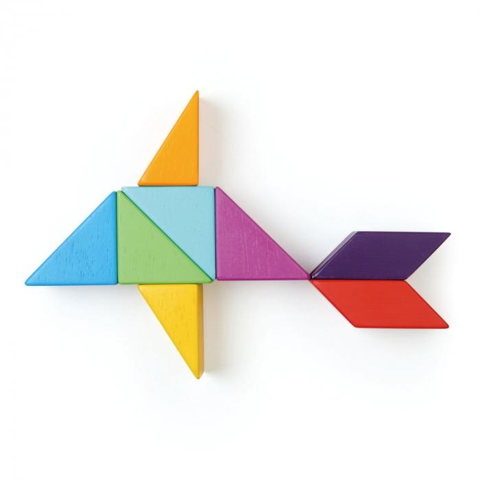 Joc magnetic din lemn Designer Coloristica, 8 piese 8