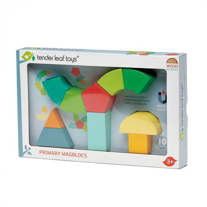 Joc magnetic din lemn Primary Magblocs, 10 piese 3