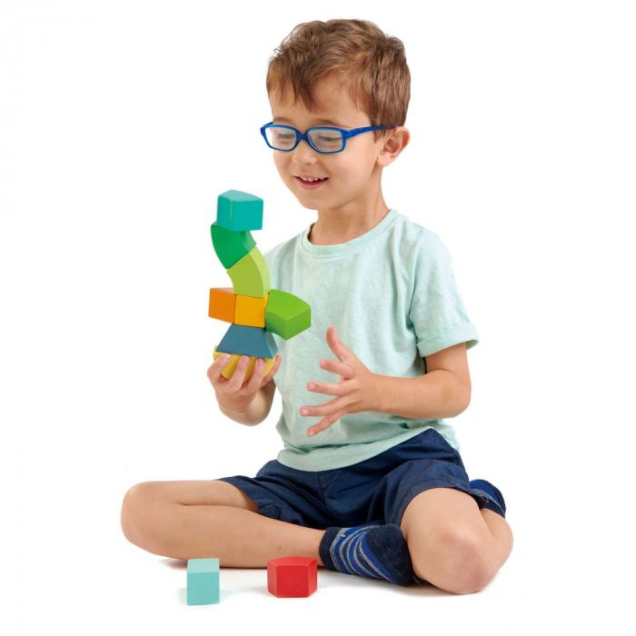 Joc magnetic din lemn Primary Magblocs, 10 piese 0