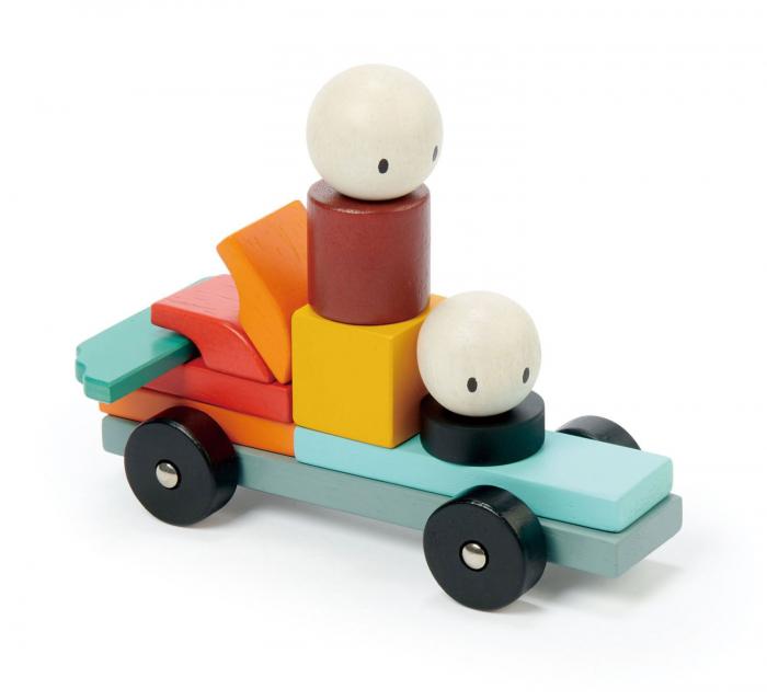 Joc magnetic din lemn Racing, 14 piese 4