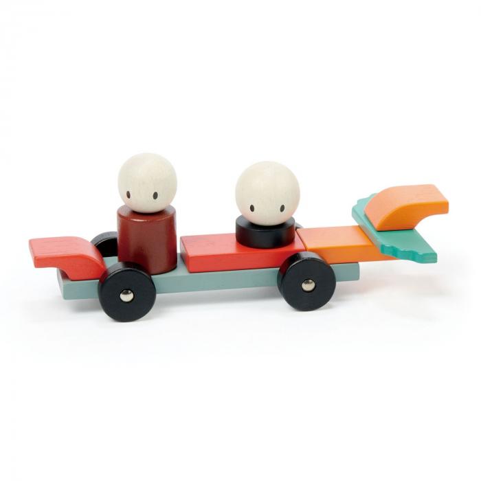 Joc magnetic din lemn Racing, 14 piese 9