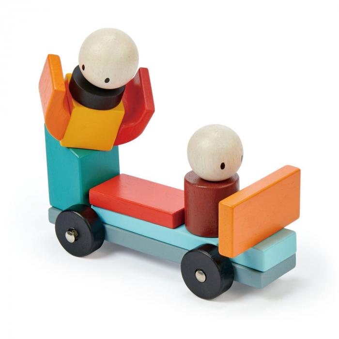 Joc magnetic din lemn Racing, 14 piese 7