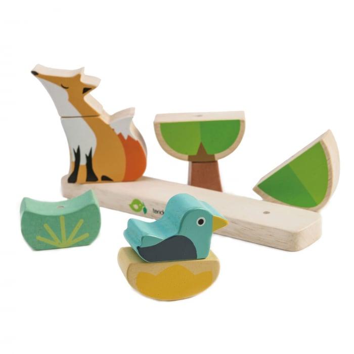 Joc magnetic din lemn Vulpea in padure, 8 piese 2