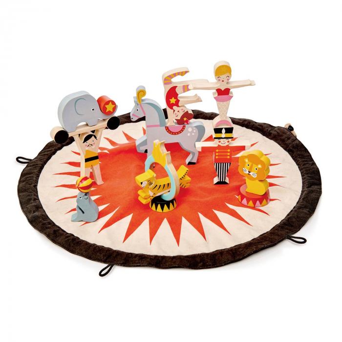 Jucarie din lemn premium Traistuta cu Povesti de la circ, 16 piese 4