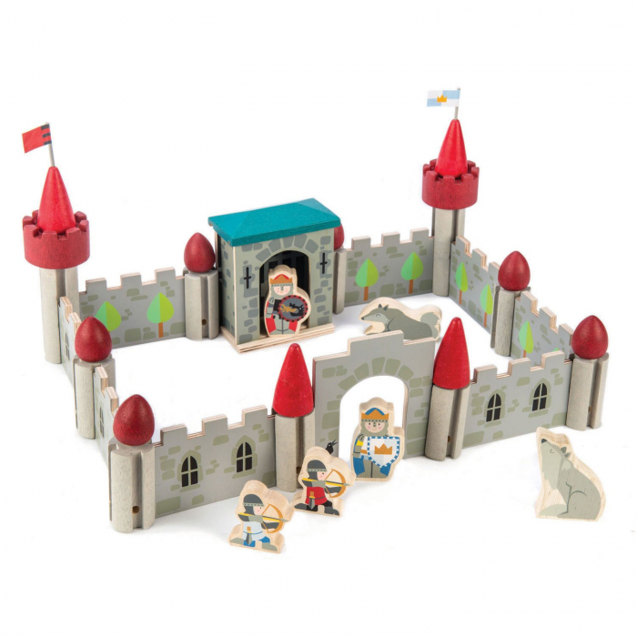 Jucarii din lemn Castelul Lupilor, set cu 40 piese 1