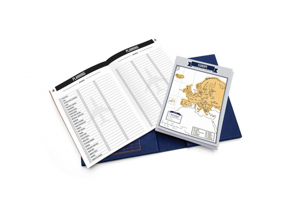 Jurnal de voiaj Travelogue cu harti razuibile 4