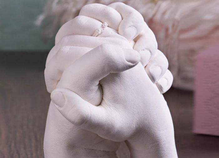 Kit mulaj 3D pentru iubiti, mainile noastre impreuna 3