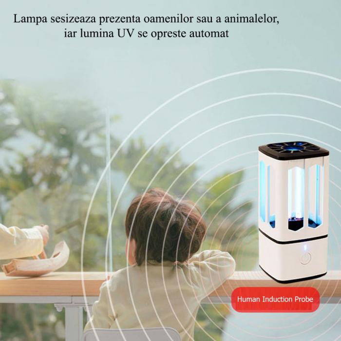 Lampa bactericida UV portabila, pentru sterilizare, dezinfectie, antimucegai 3