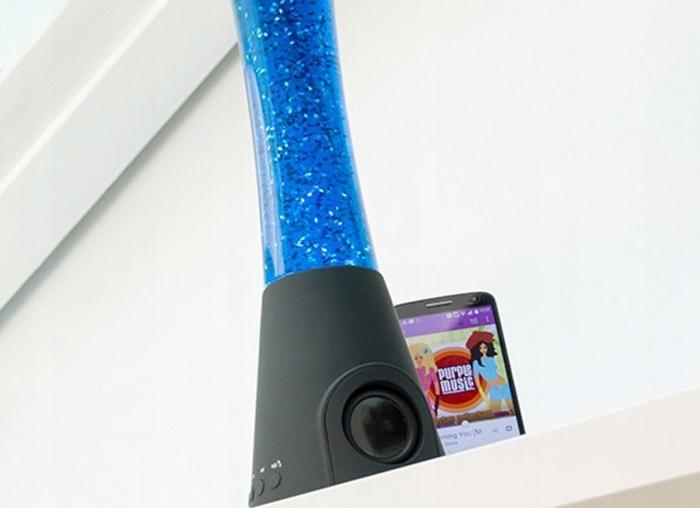 Lampa lava cu difuzor si microfon 1