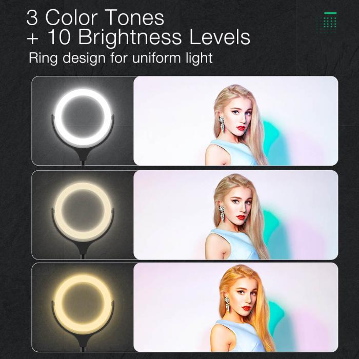 Lampa LED Make-up Profesionala BlitzWof BW-SL4, 64 leduri cu lumina rece/ calda 3