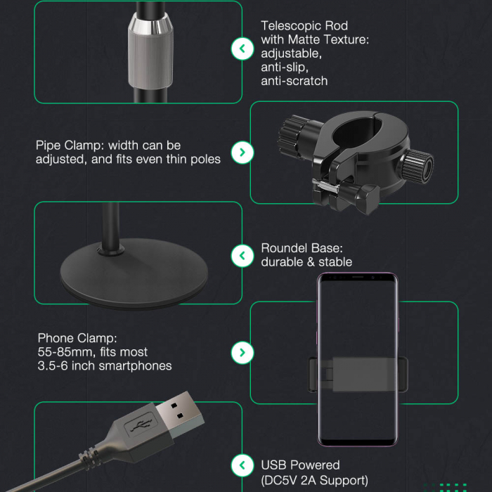 Lampa LED Make-up Profesionala BlitzWof BW-SL4, 64 leduri cu lumina rece/ calda 6