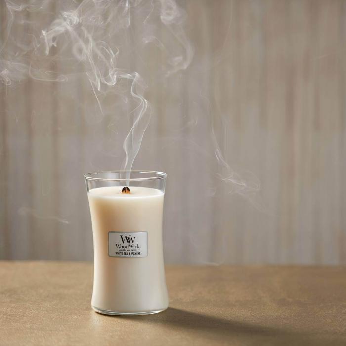 LUMANARE PARFUMATA WOODWICK  WHITE TEA & JASMINE 0