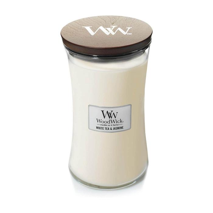 LUMANARE PARFUMATA WOODWICK  WHITE TEA & JASMINE 2