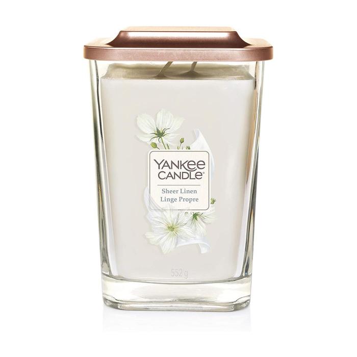 Lumanare parfumata Yankee Candle elevation collection sheer linen Borcan mare 2