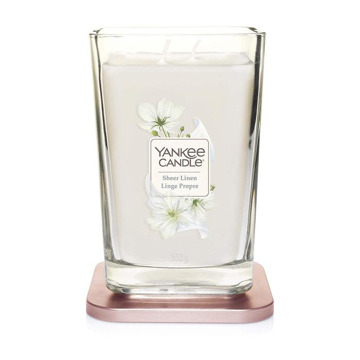 Lumanare parfumata Yankee Candle elevation collection sheer linen Borcan mare 1