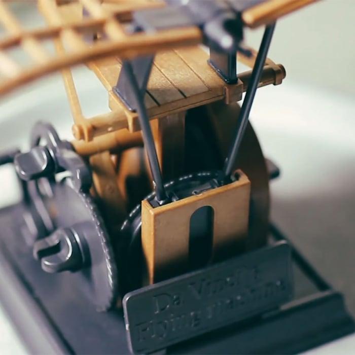 Macheta Masina de Zburat DIY Colectia DaVinci 1