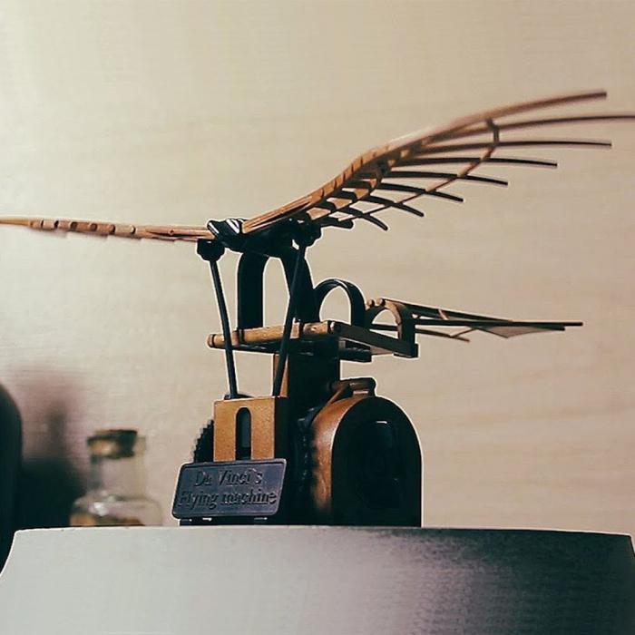 Macheta Masina de Zburat DIY Colectia DaVinci 0