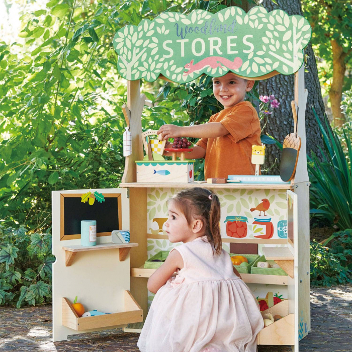 Magazin si teatru de marionete pentru copii, stand din lemn premium 0