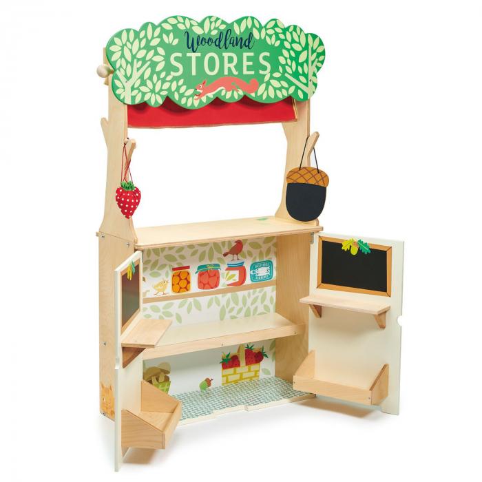 Magazin si teatru de marionete pentru copii, stand din lemn premium 7