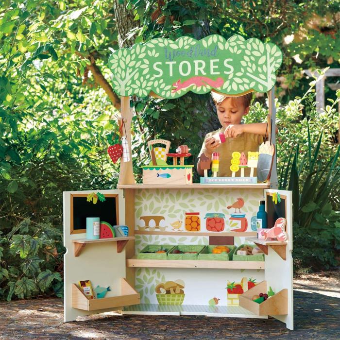 Magazin si teatru de marionete pentru copii, stand din lemn premium 2