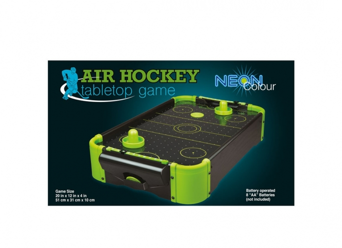 Masa air hockey cu elemente neon 4
