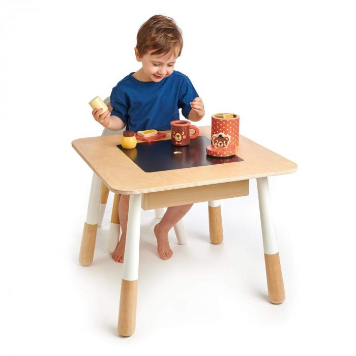 Masuta de joaca pentru copii, cu zona depozitare jucarii 0
