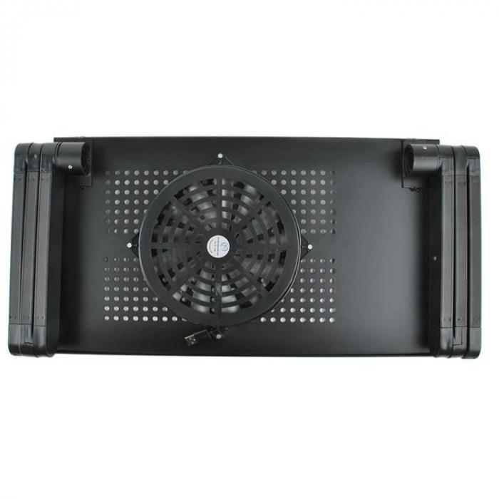 Masuta laptop cu ventilator usb si mousepad 13