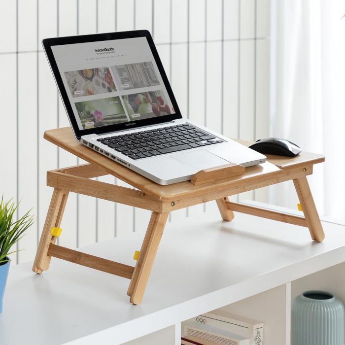 Masuta laptop LapWood din bambus 0