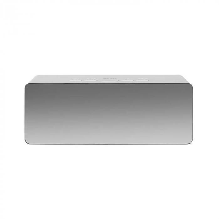 Mini ceas desteptator LED cu termometru si oglinda, dreptunghiular 5