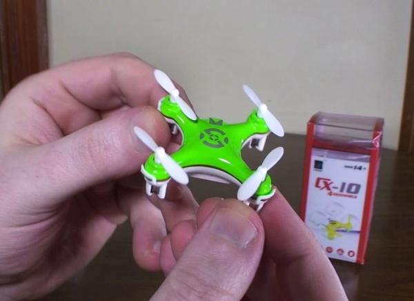 Mini Drona Cheerson CX-10 Verde [4]