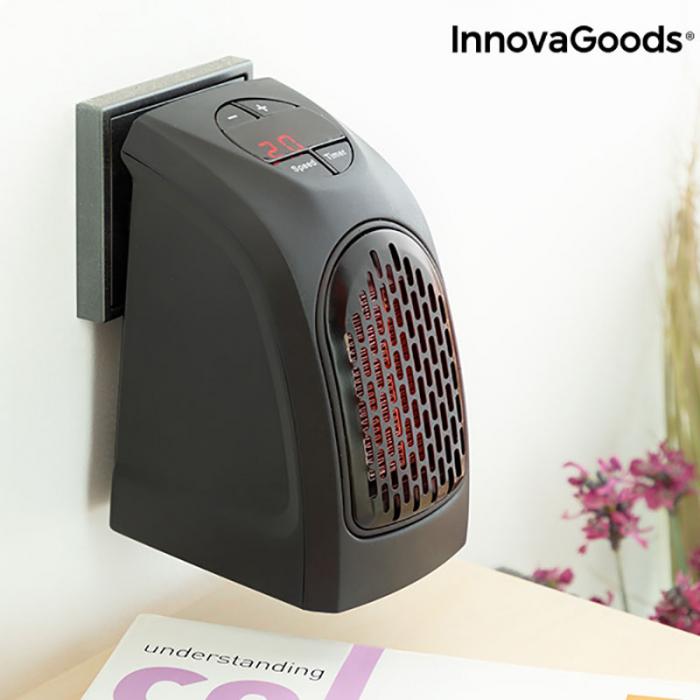 Mini radiator ceramic de priza cu termostrat reglabil 2
