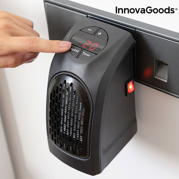 Mini radiator ceramic de priza cu termostrat reglabil 3