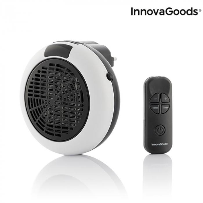 Mini radiator ceramic de priza cu termostrat reglabil si telecomanda 5