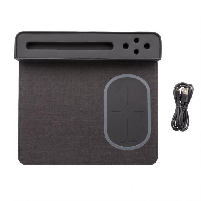 Mousepad cu incarcare wireless 5W si USB 5