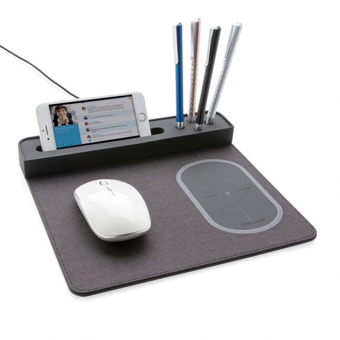 Mousepad cu incarcare wireless 5W si USB 2
