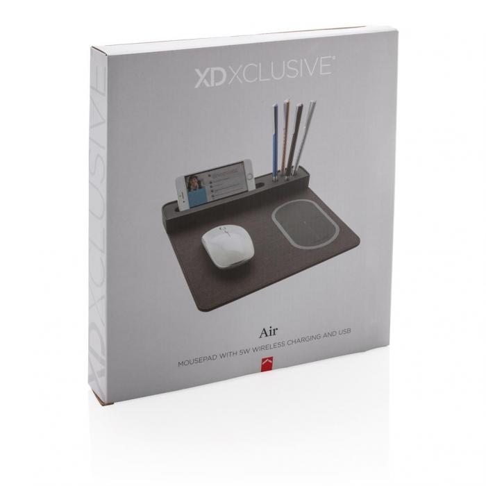 Mousepad cu incarcare wireless 5W si USB 9