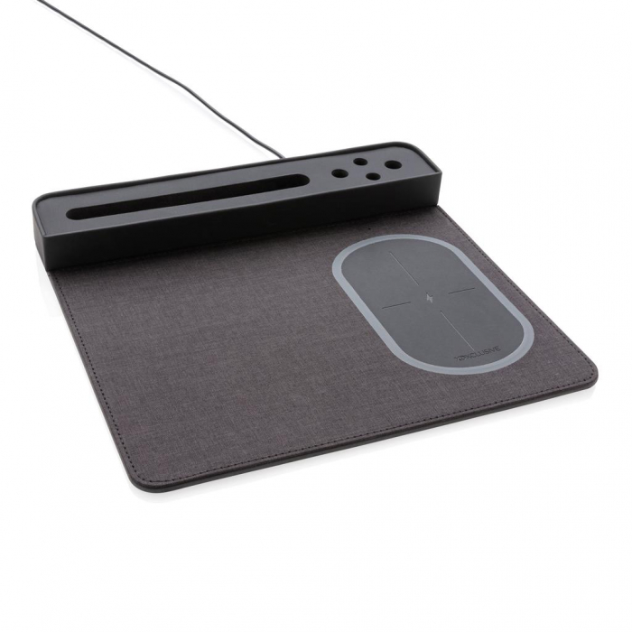 Mousepad cu incarcare wireless 5W si USB 4