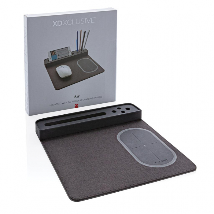 Mousepad cu incarcare wireless 5W si USB 8