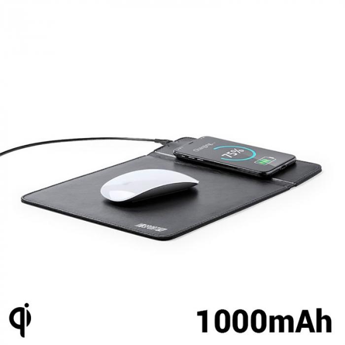 Mousepad cu incarcator wireless QI, 1000 MAH 1