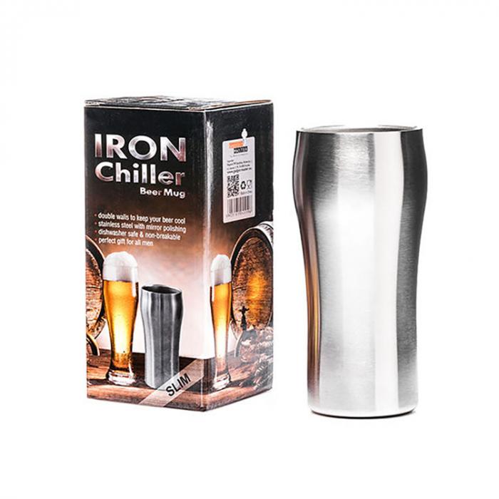Pahar de bere cu racire Iron Chiller, 400 ml 2