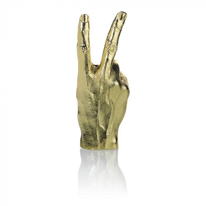 Peace, suport si obiect decorativ victorios, Gold 3