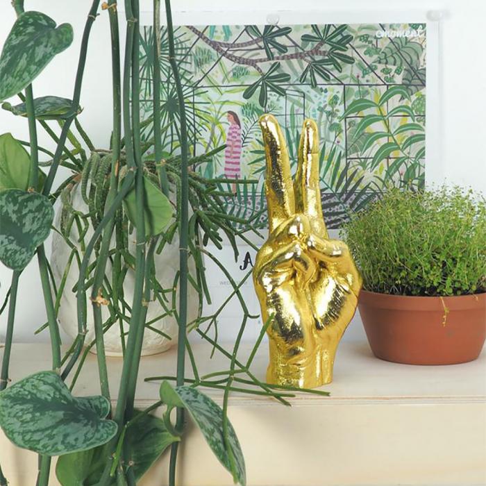 Peace, suport si obiect decorativ victorios, Gold 0