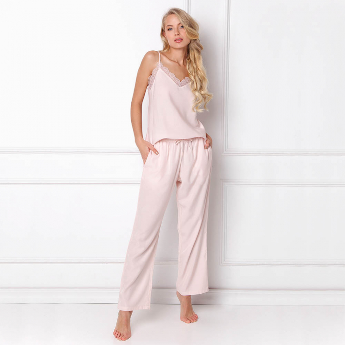 Pijamale dama Danny 2 piese, pantaloni lungi 1