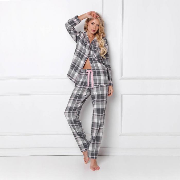 Pijamale dama Marly 2 piese, pantaloni lungi, 100% bumbac 2